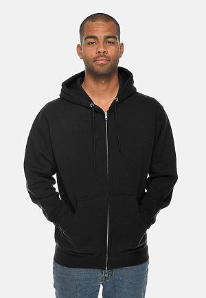 Premium Full Zip Hoodie BLACK front
