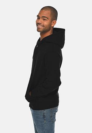 Premium Full Zip Hoodie BLACK side