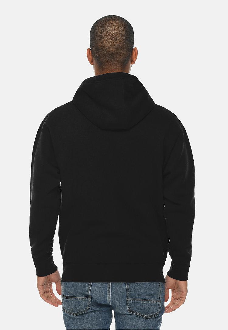 Premium Full Zip Hoodie BLACK back