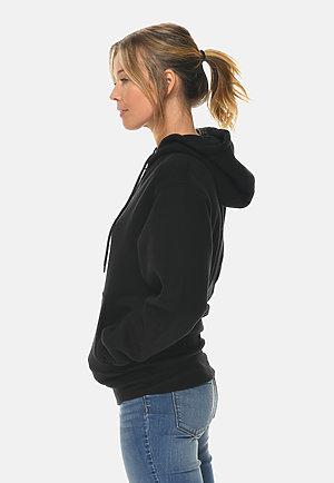 Premium Full Zip Hoodie BLACK sidew
