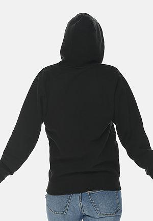 Premium Full Zip Hoodie BLACK backw
