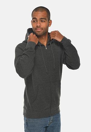 Premium Full Zip Hoodie CHARCOAL HEATHER side