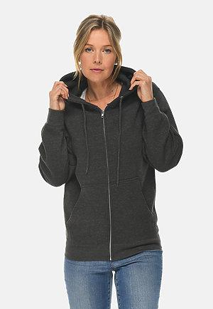 Premium Full Zip Hoodie CHARCOAL HEATHER frontw