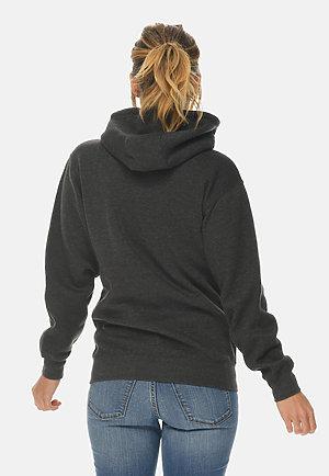 Premium Full Zip Hoodie CHARCOAL HEATHER backw