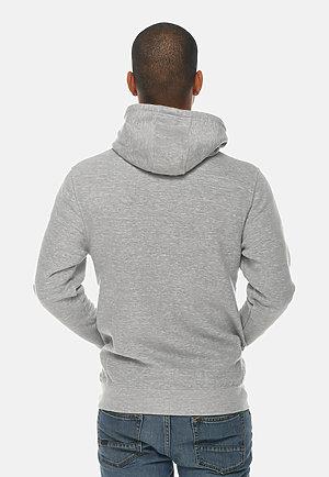 Premium Full Zip Hoodie HEATHER GREY back