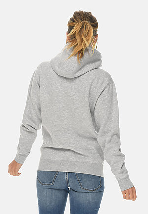 Premium Full Zip Hoodie HEATHER GREY backw