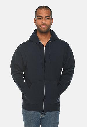 Premium Full Zip Hoodie NAVY BLUE front