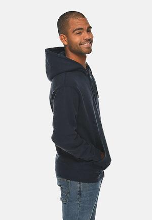 Premium Full Zip Hoodie NAVY BLUE side