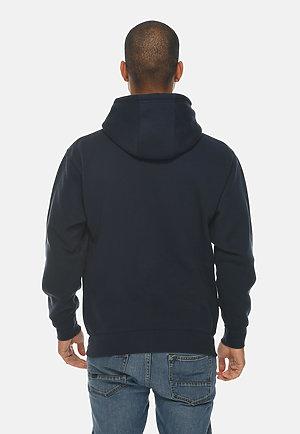 Premium Full Zip Hoodie NAVY BLUE back
