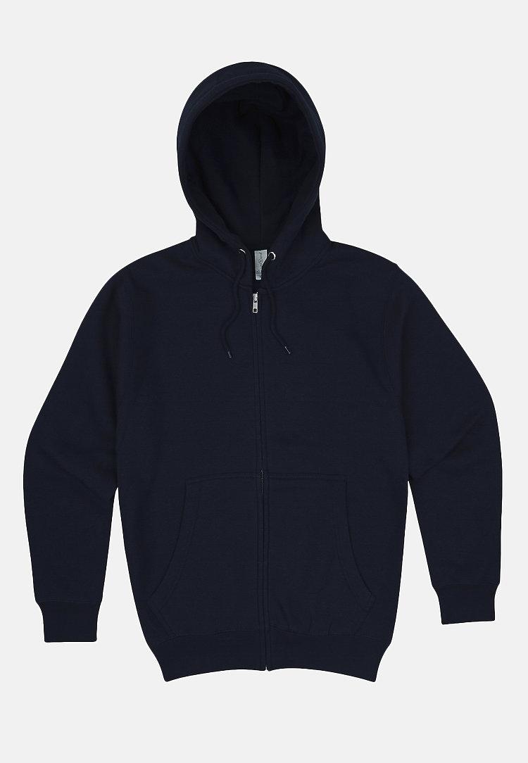 Premium Full Zip Hoodie NAVY BLUE flat