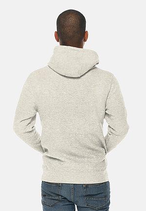 Premium Full Zip Hoodie OATMEAL HEATHER back