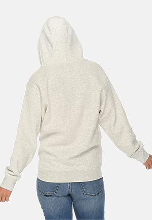 Premium Full Zip Hoodie OATMEAL HEATHER backw