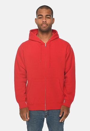 Premium Full Zip Hoodie RED front