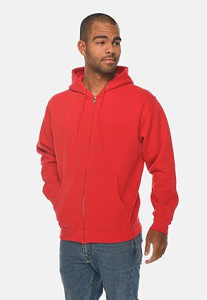 Premium Full Zip Hoodie RED side