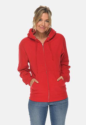 Premium Full Zip Hoodie RED frontw