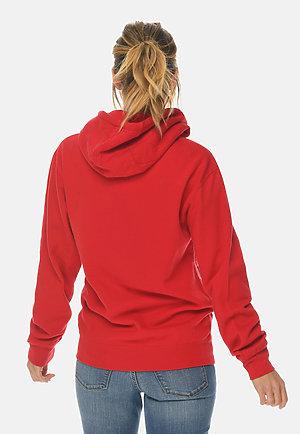 Premium Full Zip Hoodie RED backw