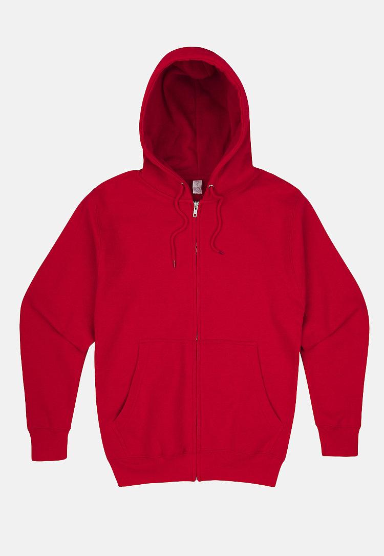 Premium Full Zip Hoodie RED flat
