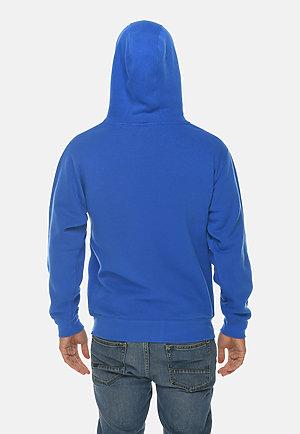 Premium Full Zip Hoodie TRUE ROYAL back