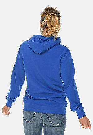 Premium Full Zip Hoodie TRUE ROYAL backw