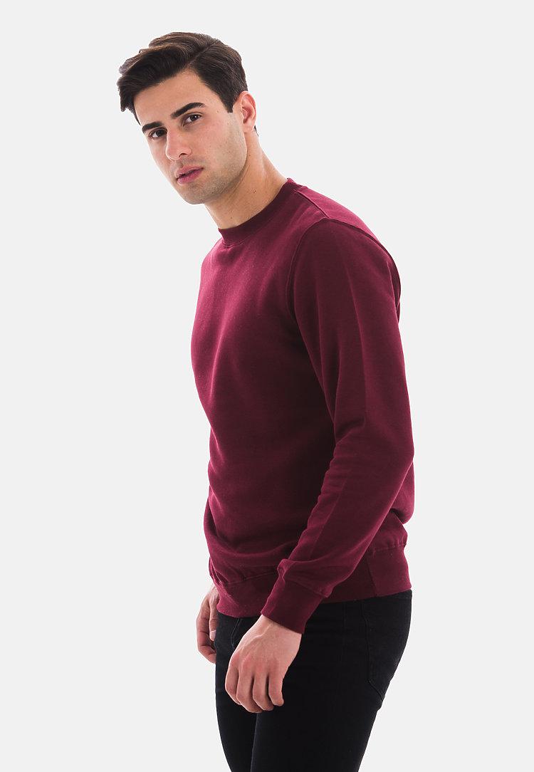 Premium Crewneck Sweatshirt BURGUNDY side