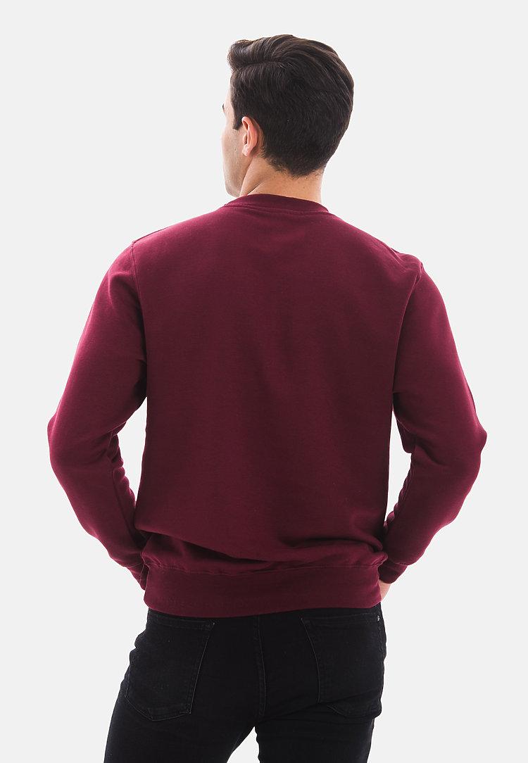 Premium Crewneck Sweatshirt BURGUNDY back