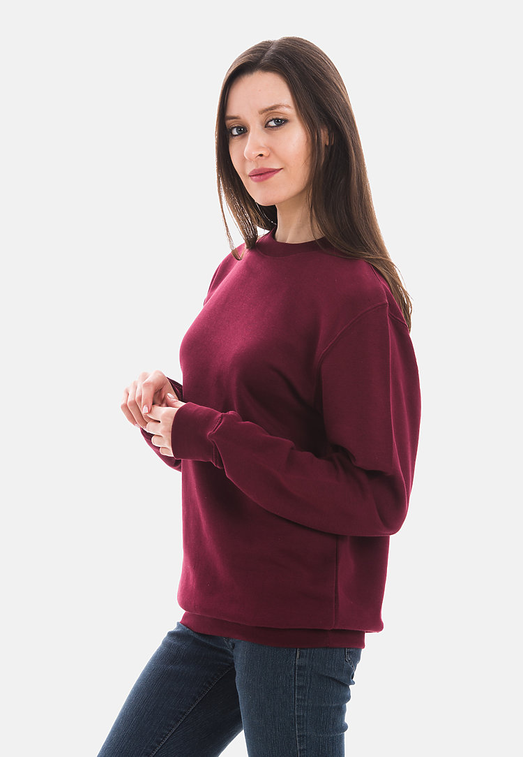Premium Crewneck Sweatshirt BURGUNDY sidew