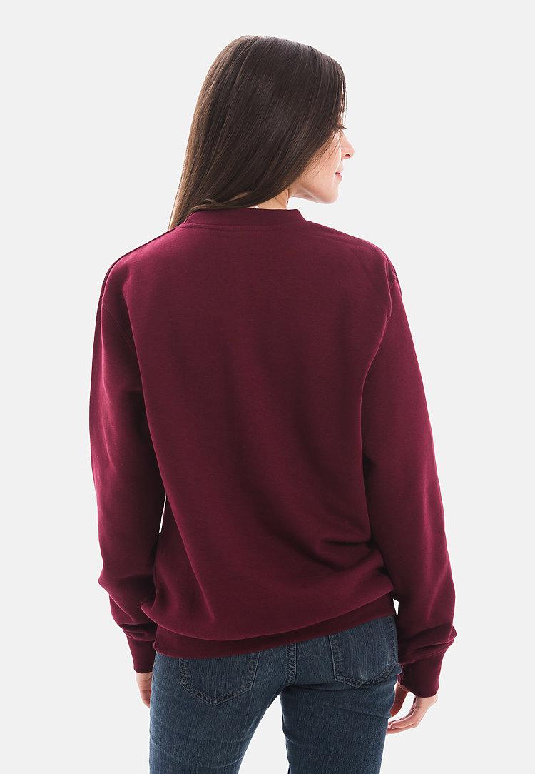 Premium Crewneck Sweatshirt BURGUNDY backw