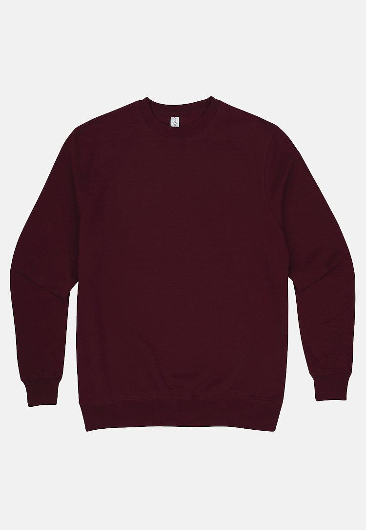 Premium Crewneck Sweatshirt BURGUNDY flat