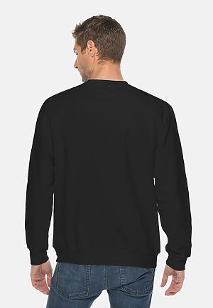 Premium Crewneck Sweatshirt BLACK back