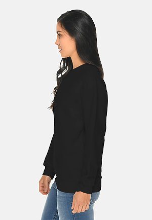Premium Crewneck Sweatshirt BLACK sidew
