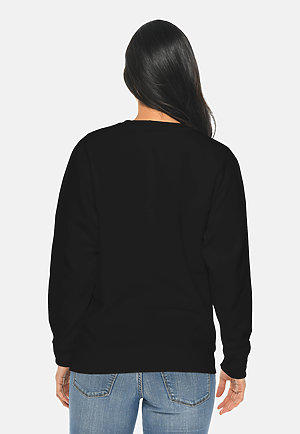 Premium Crewneck Sweatshirt BLACK backw