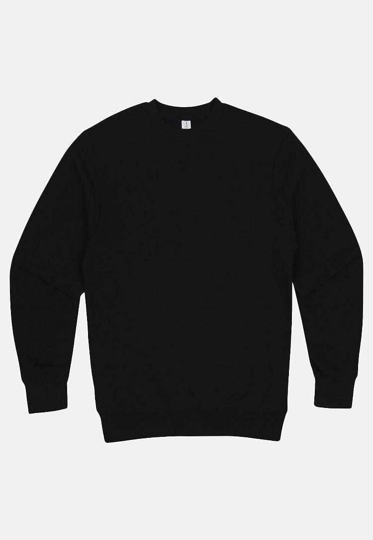 Premium Crewneck Sweatshirt BLACK flat