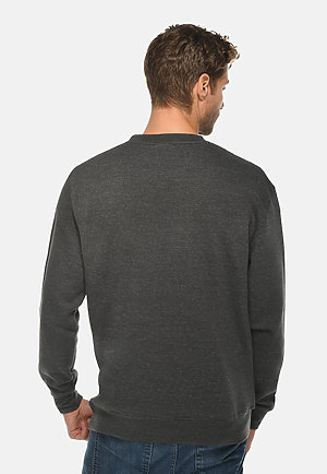 Premium Crewneck Sweatshirt CHARCOAL HEATHER back