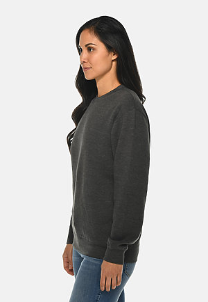 Premium Crewneck Sweatshirt CHARCOAL HEATHER sidew