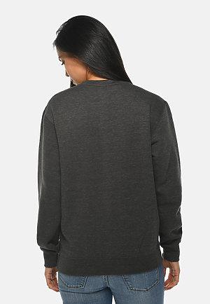 Premium Crewneck Sweatshirt CHARCOAL HEATHER backw