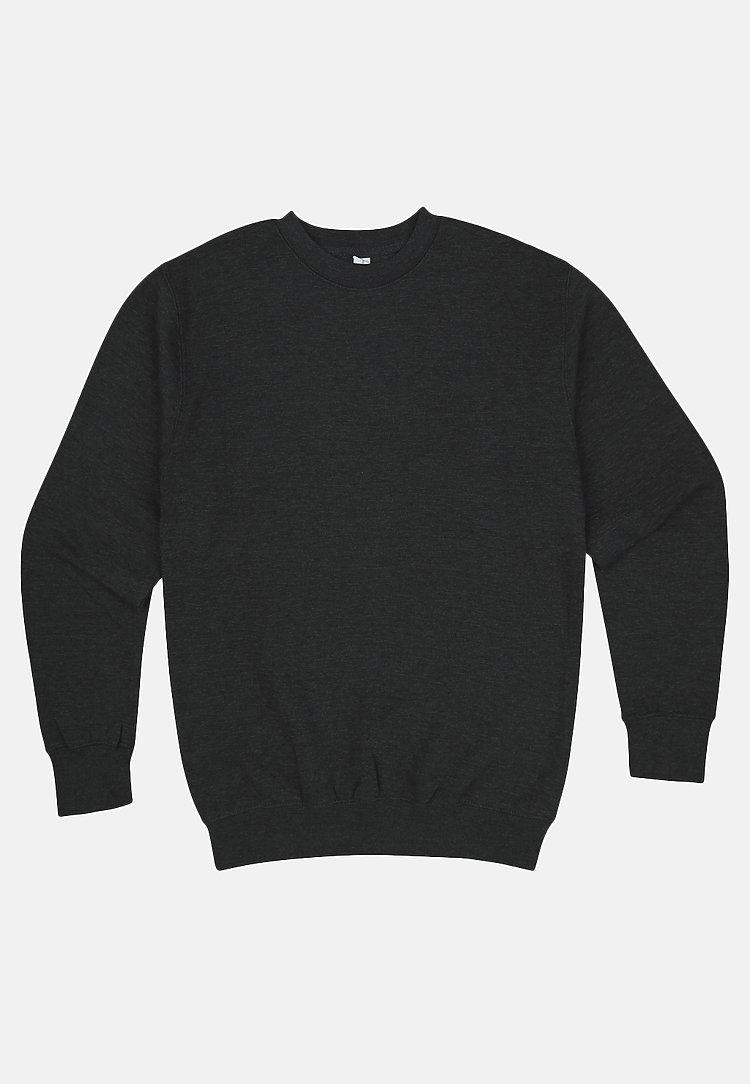 Premium Crewneck Sweatshirt CHARCOAL HEATHER flat