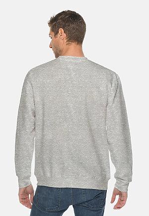 Premium Crewneck Sweatshirt HEATHER GREY back