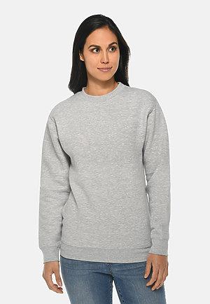 Premium Crewneck Sweatshirt HEATHER GREY frontw