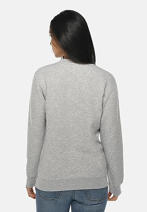 Premium Crewneck Sweatshirt HEATHER GREY backw