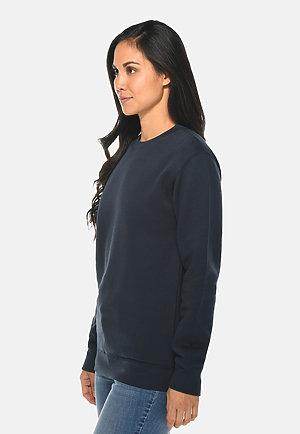 Premium Crewneck Sweatshirt NAVY BLUE sidew