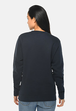 Premium Crewneck Sweatshirt NAVY BLUE backw