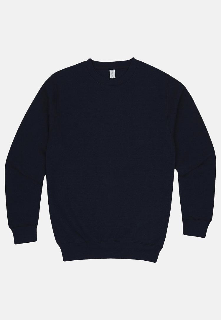 Premium Crewneck Sweatshirt NAVY BLUE flat