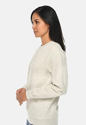 Premium Crewneck Sweatshirt OATMEAL HEATHER sidew