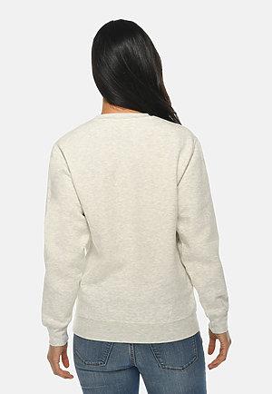 Premium Crewneck Sweatshirt OATMEAL HEATHER backw