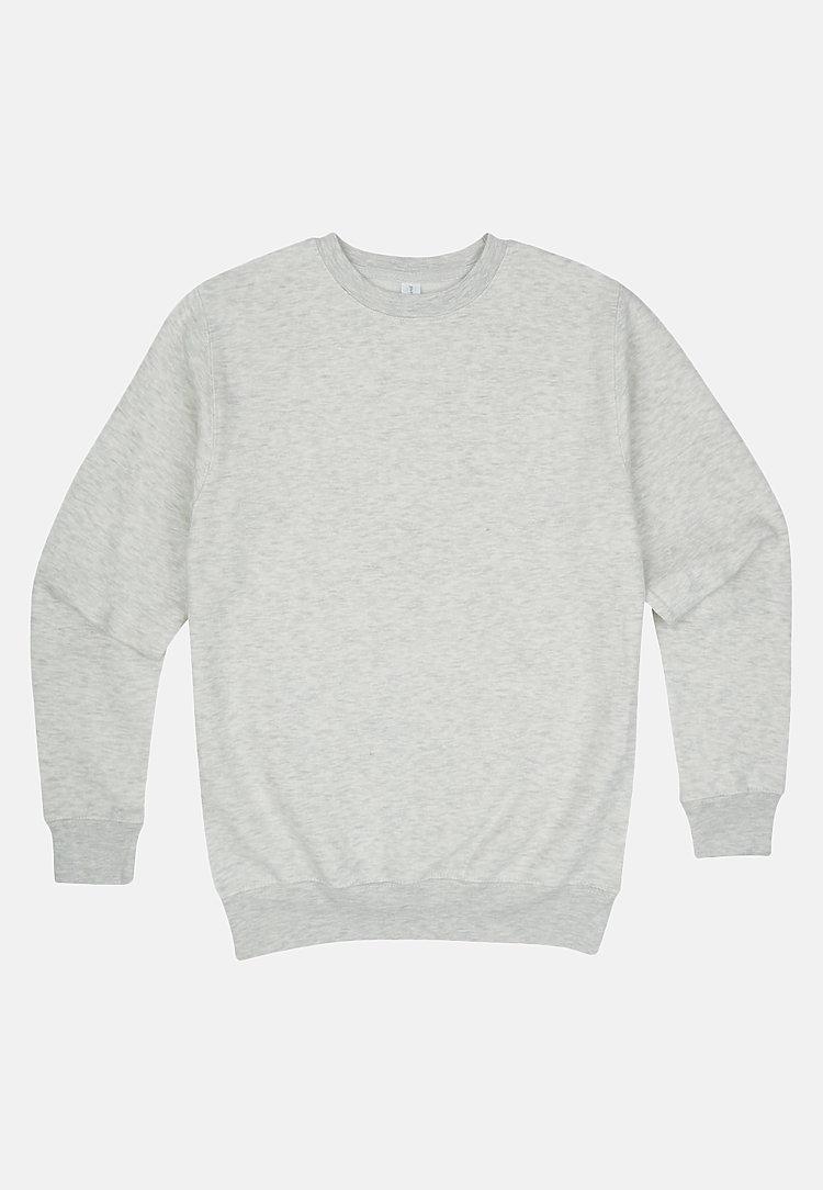 Premium Crewneck Sweatshirt OATMEAL HEATHER flat