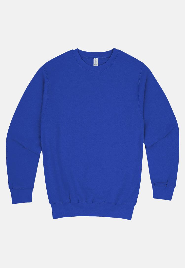 Premium Crewneck Sweatshirt TRUE ROYAL flat