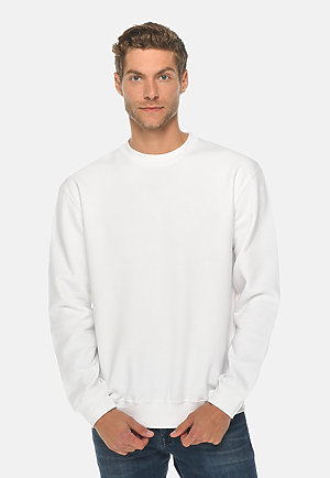 Premium Crewneck Sweatshirt WHITE front