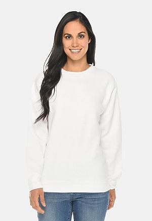 Premium Crewneck Sweatshirt WHITE frontw