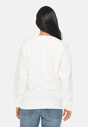 Premium Crewneck Sweatshirt WHITE backw