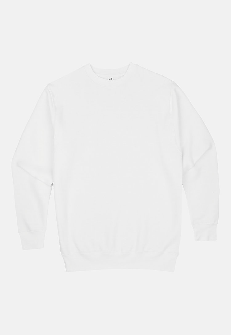 Premium Crewneck Sweatshirt WHITE flat
